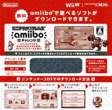 Nintendo Limited Wii U 3DS Mini Mario & Friends amiibo Challenge Game DLC JAPAN