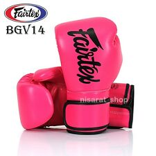 FAIRTEX BOXING GLOVES BGV14 PINK 8 10 12 14 16 1MMA FIGHTING MUAY THAI TRAINING