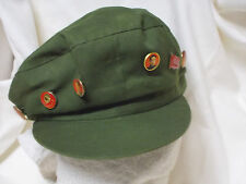 Vintage Chinese PLA Army hat with 6 RARE badges Small