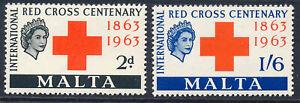 MALTA 1963 RED CROSS CENTENARY SG312/313 BLOCKS OF 4 MNH