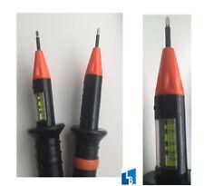 Wibre 10901 Spannungsprüfer 2polig Stromprüfer mit LED Kontrollampen 120-750 V