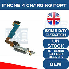 iPhone 4 USB dock charging port connector assembly module microphone flex WHITE