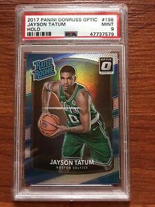 Jayson Tatum 2017-18 Donruss Optic Holo Rated Rookie PSA 9 RC