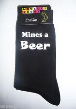 Las minas de una cerveza Diseño Impreso Para Hombre Negro calcetines Cumpleaños Regalo