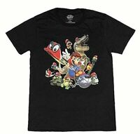 Super Mario Odyssey Men's Capture Character Group T-Shirt (X-Large)