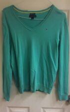 Tommy Hilfiger, women's size large sweaters 2, 1 green & 1 aqua, EUC