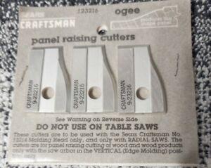 New Craftsman Panel Raising Cutters Set of 3  9-23216