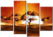 Grandi africano tramonto paesaggio tela D'Arte Picture MULTI SPLIT 4 Set rdy2hang
