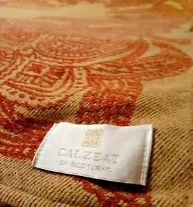 Vintage throw. Calzeat of Scotland. Country House style. Bed throw. 80 x 56 inch