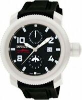 New Mens Invicta 1983 Sea Hunter 50mm Swiss Quartz Black Rubber Strap Watch