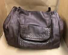 "BOTTEGA VENETA ""Beetle Brown"" Leather LARGE Messenger Shoulder Bag Crossbody"