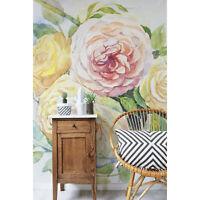 Wandmalerei Ablösbar Fototapete Aquarell Malerei Rosen Blumen Natur Floral