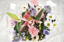 FRESH REAL Birthday  Flowers Delivered Pastel Mix Bouquet FREE UK Next by Post
