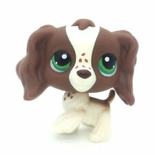 Littlest pet shop LPS#156 Toy Brown cocker spaniel dogs green dot eyes