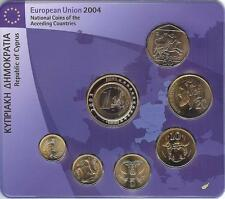 CHIPRE CYPRUS 1998 - 2004. BLISTER SET 7 MONEDAS + MEDALLA - BU UNC