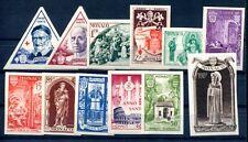 MONACO 1951 429-440U ** POSTFRISCH UNGEZÄHNT ANNO SANTO (E8042