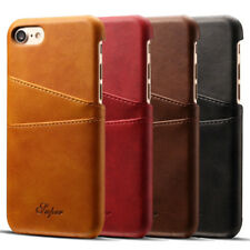 Ultra-thin Retro Leather Card Slot Case Cover For iPhoneXS Samsung Galaxy Huawei