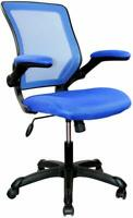 RTA Techni Mobili Mesh Task Office Chair with Flip Up Arms - Blue New