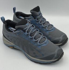 Merrell Womens Siren Edge 3 Hiking Shoes Rock Bluestone Vibram Size 8.5W Euc