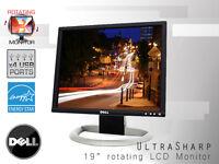 DELL UltraSharp 1905FP / 1901FP Gray 19-inch Flat Panel LCD Monitor - used