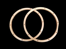ROODIMENT 14'' WOOD MAPLE SNARE DRUM HOOPS LAQUERED PAIR TOP & BOTTOM 10 LUG