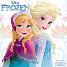 Walt Disney Frozen Movie Animation Art 16 Month 2018 Wall Calendar Style 2 New