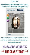 Modern White Outdoor Garden Security Round Bulkhead Wall Light - Ip44 Rated
