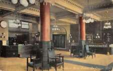 La Crosse Wisconsin Stoddard Hotel Lobby Interior Antique Postcard K72001