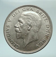 1936 United Kingdom Great Britain GEORGE V Silver Florin 2 Shillings Coin i80253