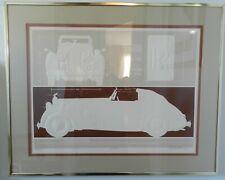1935 Rolls Royce Phanton II por Williams Serigrafía Firmado Numerado 24 X 18