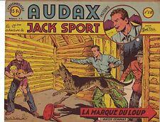 Artima Audax 1er serie n° 18 JACK SPORT Bob Dan