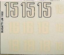 decals 1/43: Bugatti Le Mans 1932 N°15, 16 & 18