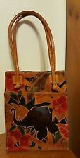 ELEPHANT HANDBAG TOTE made in INDIA Signed MTC1992 GREAT CONDITION