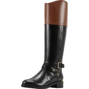 Bandolino Womens Jimani Black Tall Riding Boots Shoes 8.5 Medium (B,M) BHFO 4074