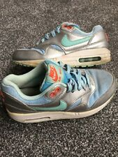 Nike air max girls child's trainers uk size 3 eur size 35.5 blue green silver