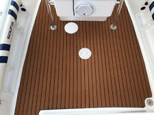 "Marine Flooring Faux Teak EVA Foam Boat Decking Sheet Brown 91""x35.4''x0.24''"