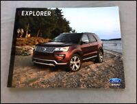 2018 Ford Explorer 32-page Original Car Sales Brochure Catalog - Sport
