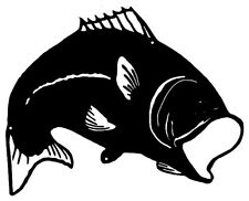 Big Mouth Bass Fish Laser Cut Out Silhouette Metal Sign 14x17.5  RVG321B