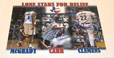 Roger Clemens David Carr Tracy Mcgrady signed 11x14 Photo Tristar Authentic