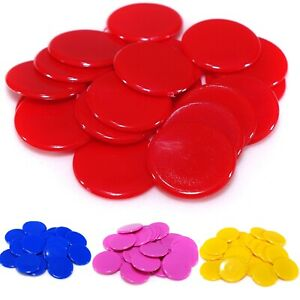 Plastic Counters 15mm (Select Colour) Round Tiddlywinks Educational Maths Games