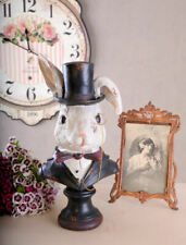 Peter White Bust Alice in Wonderland Rabbit White Rabbit White Rabbit
