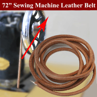 72'' 183CM Leather Belt Treadle Parts With Hook For Singer Sewing Machine 3/16''