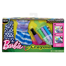 New Barbie Crayola Green Tie-Dye Fashions Pack w/ Washable Marker Pens Official