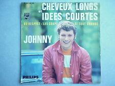 Johnny Hallyday 45Tours EP vinyle Cheveux Longs Et Idées Courtes