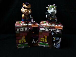 """kidrobot BEBOP & ROCKSTEADY TEENAGE MUTANT NINJA TURTLES 7"""" Vinyl"""