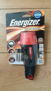 BRAND NEW ENERGIZER IMPACT RUBBER LED TORCH LP54821 C/W BATTERIES