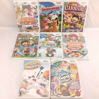 Lot of 8 Nintendo Wii Family Party Games EA 2K Midway THQ