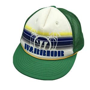 Warrior Lacrosse Foam Snapback Trucker Hat Cap Youth Size Palm Trees Green