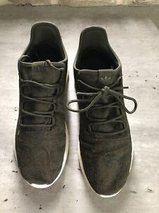 Mens Khaki Adidas Tabular Trainers Size 11