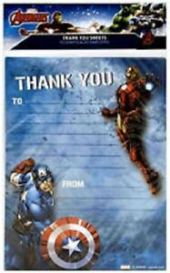 Avengers Pack Of 20 Thank You Sheets With Envelopes